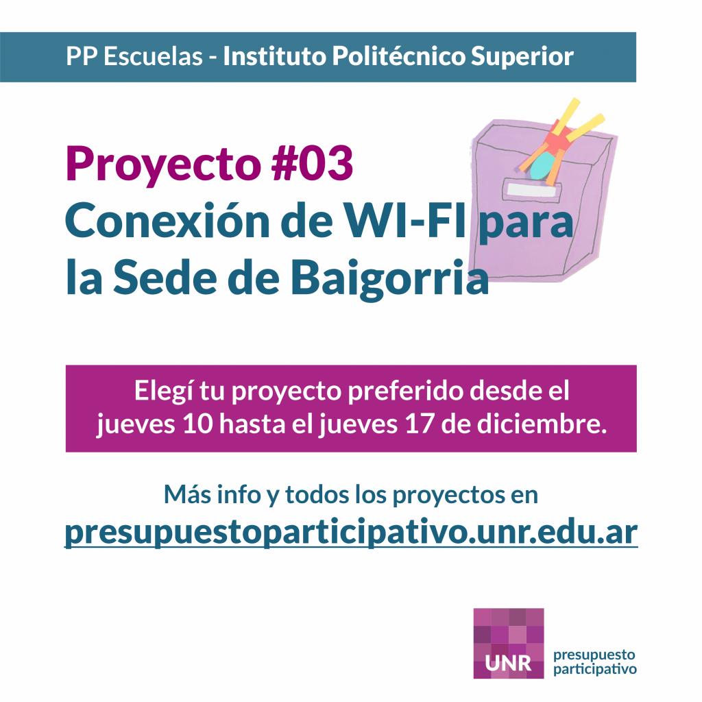 Instituto Politécnico Superior - Proyecto 3 - Conexión Wi-Fi para la Sede de Baigorria